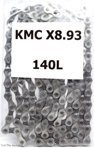 "KMC X8.93 Pedal Forward Bike Chain fits SRAM Shimano 1//2/""x3//32/"" 140-Links 140L"
