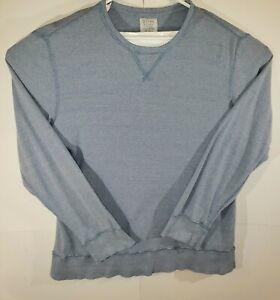 J-Crew-Men-039-s-Crewneck-Cotton-Thermal-Blue-Long-Sleeve-Pullover-Large