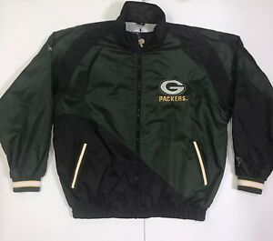 3255d9ec18b Image is loading Vintage-Green-Bay-Packers-Windbreaker-Jacket-Retro-Pro-