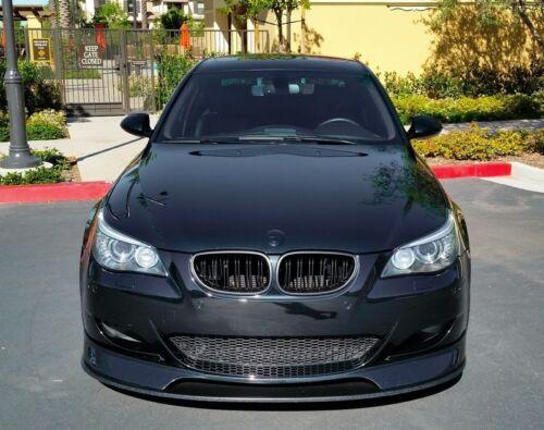 Pour BMW 5er e60 e61 M m5 Reins Calandre Grill Brillance Noir Limousine doppelsteg