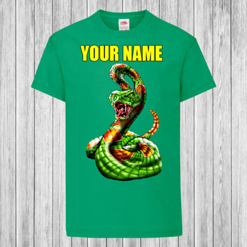 Children Kids T-Shirt DTG Personalized with name Rattle Snake