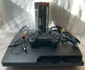 Sony-Playstation-3-PS3-Slim-160GB-CECH-3001A-Console-Lot-w-Games-System-Bundle