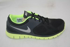 e63bddc8cd45 MEN S NIKE FLEX 2012 RUNNING 512019-007 BLACK METALLIC SILVER-VOLT ...