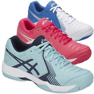 factory outlet clearance prices huge inventory Details zu Asics GEL-GAME 6 CLAY Damen Outdoor Tennisschuhe E756Y weiß blau  pink silber