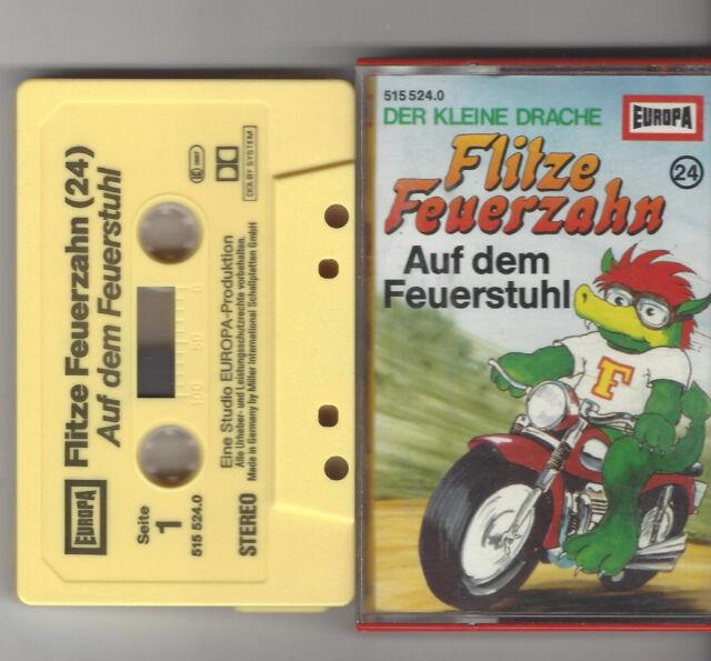 MC EUROPA Kassette Flitze Feuerzahn Folge 24  Auf dem Feuerstuhl Hörspiel