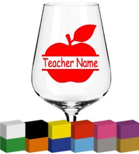 Personalised Apple V2 Vinyl Glass Sticker// Graphic Mug Decal Teacher Gift