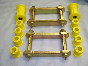 HOLDEN-TF-RODEO-EXTENDED-REAR-SPRING-SHACKLES-amp-POLY-BUSH-KIT-1988-to-2002