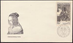 CZECHOSLOVAKIA-1971-28-1-1971-Graphic-Artist-series-160kc-FDC-unaddressed-D8682