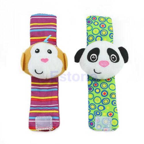 Soft Developmental Toy Animal Baby Kid Infant Hand Wrist Bells Foot Sock Rattles