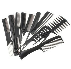 Hairdressing-Comb-Set-Hair-Styling-Pro-Kit-Professional-Barber-Salon-10Pcs-Black