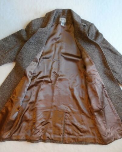 18 Brun Women's Blend Lined Tweed Size Ll Bean Ull Long Jacket aqtAII