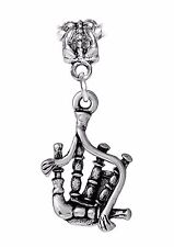 Bagpipes Musical Instrument Celtic Music Dangle Charm for European Bead Bracelet