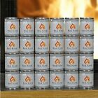 Gel Fuel 24 Pack Fire Cans Real Flame Fueled Indoor/Outdoor Fireplace Heat Fire