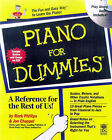 Piano For Dummies by Jon Chappell, Mark Phillips (Paperback, 1998)