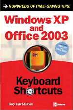 Windows Xp and Office 2003 Keyboard Shortcuts, Hart-Davis, Guy, Used; Good Book