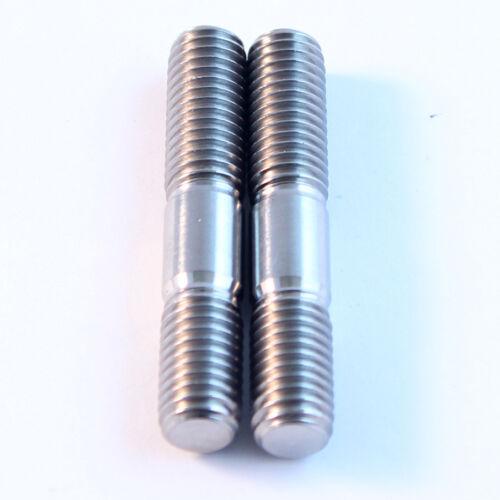 46mm long stud. TITANIUM studs//Ti dome nuts//Ti flange nuts VJ22 RGV250