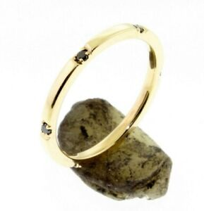 6-Black-Diamond-Eternity-14-K-Comfort-Fit-Gold-Wedding-Band-or-Stacking-Rings