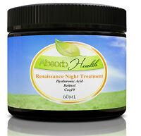 Renaissance Night Treatment Wrinkle Reducer W/ Hyaluronic Acid, Retinol & Coq10