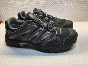 Details about Salomon Men's BlackGray Hiking Shoes Contagrip Goretex 328108 Size 10