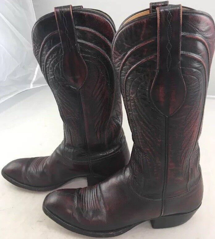 risparmiare fino all'80% VTG Lucchese rosso nero CHERRY Cowboy stivali 9.5D L6608 L6608 L6608 6L110 Handcrafted  migliori prezzi e stili più freschi