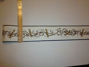 Clothes Pins On Branches Prepasted Laundry Room Wallpaper Border Fam65041b 10976650413 Ebay