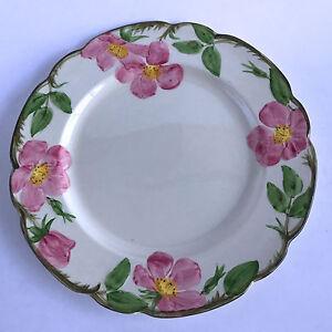 Image is loading Franciscan-Desert-Rose-Dinner-Plate -Brown-Earthenware-Gladding- & Franciscan Desert Rose Dinner Plate Brown Earthenware Gladding ...