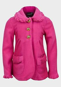 Girls-Pink-Fleece-Coat-Soft-Touch-sizes-4-years-to-7-Years