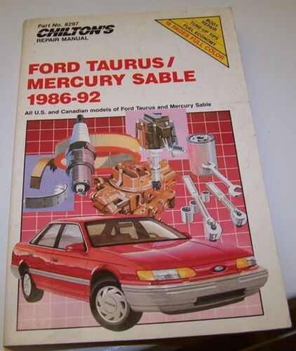 1 of 1 - Haynes Repair Manuals: Ford Taurus-Mercury Sable, 1986-92 by Chilton - VGUC!