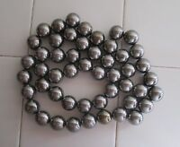 "50 Silver / Chrome Colored Highly Magnetic Hematite 3/4"" Round Spheres, Magnets"