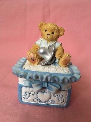 Nuova Moda Cherished Teddies Teddies To Cherish Con Coperchio Ciondolo Box Da Priscilla Hillman-mostra Il Titolo Originale