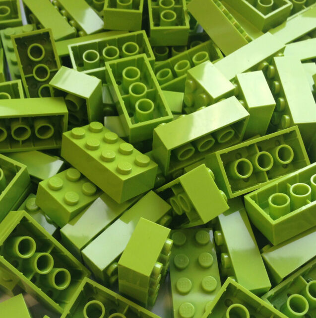 ❤NEW❤ LEGO 3001 Lime 2x4 Brick BULK Pack of 25