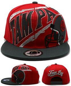 Tampa Bay New Leader Tornado Buccaneers Colors Red Gray Era Snapback Hat Cap Ebay