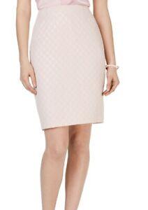 Kasper Womens Skirt Classic Pink Size 10P Petite Metallic Pencil $79 418