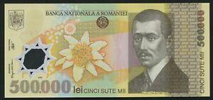 Romania-500000-LEI-2000-2004-P-115-polimero-Nota-Firma-isarescu-FIOR