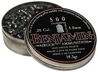 Benjamin Cylindrical .20 Cal (5mm) Pellets 14.3 Grains Pointed 500ct P50