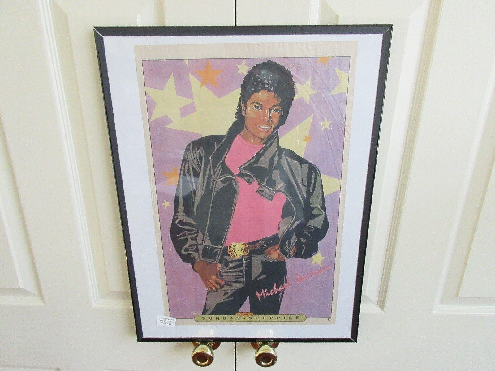 Michael Jackson , New York Sunday News , Comic Poster ,