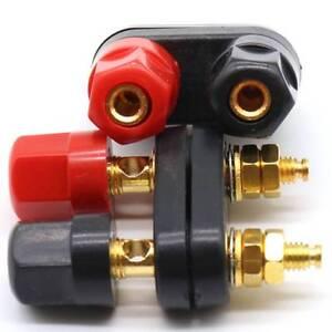 Dual-Female-Banana-Plug-Terminal-Binding-Post-Speaker-Amplifier-Jack-Adapter