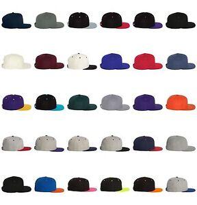 Yupoong-Classic-Snapback-Snap-Back-Baseball-Hat-Plain-Blank-UNISEX-Cap-6089-M-T