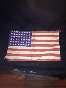 "Early 16"" 48 Star Us Flag"