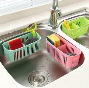 Kitchen Storage Rack Holder Sink Drainer Bathroom Shelf Soap Sponge Organizer