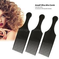 Hair Brush Comb Curly Hairdressing Styling Tool Black E4T6Anself 3Pcs Afro Comb
