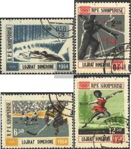 Albanien-793-796-kompl-Ausg-gestempelt-1963-Winterolympiade-64-Innsbruck