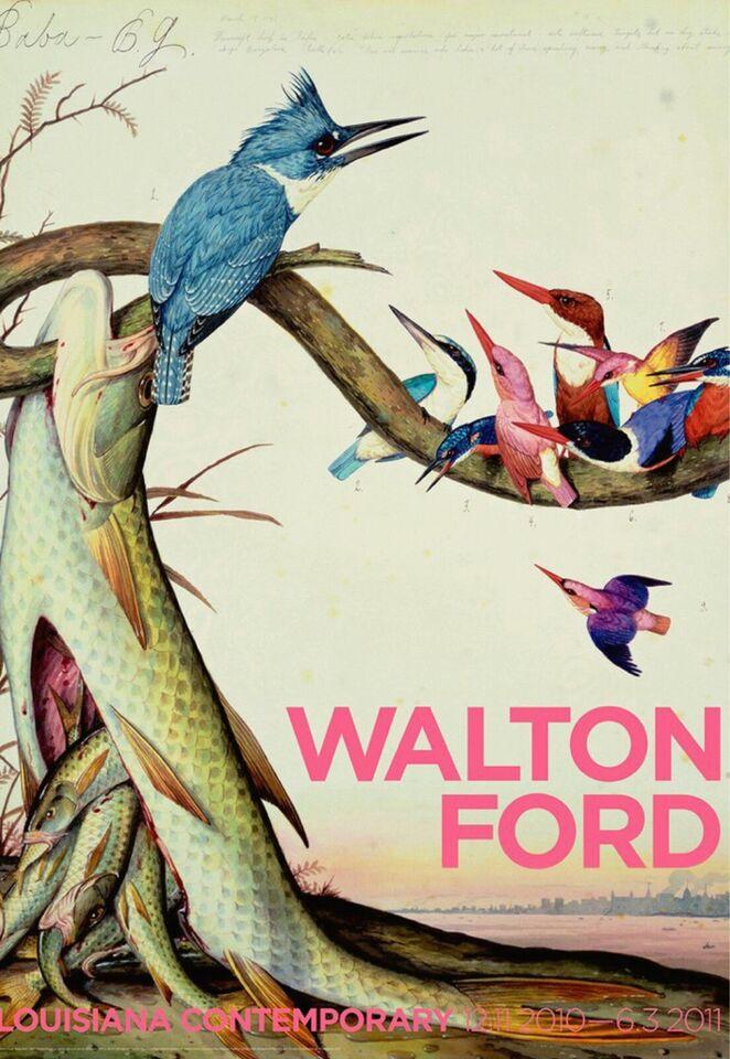 Litografi, Walton Ford , motiv: Komposition med abe