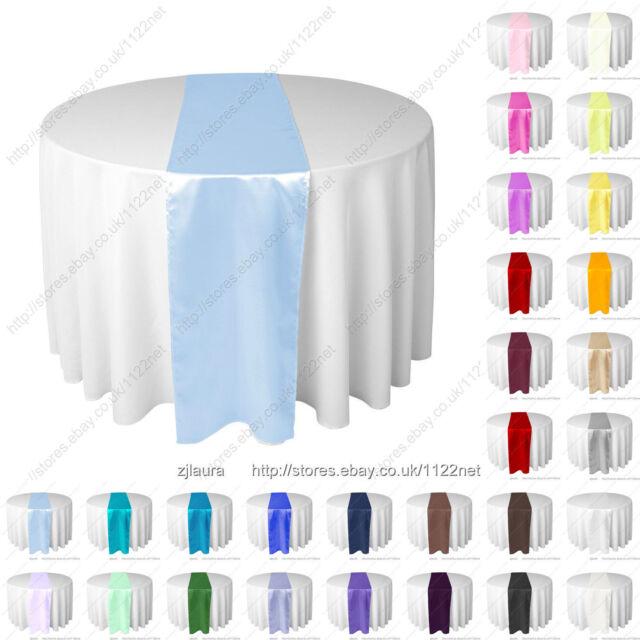 30cm x 275cm silk-like satin table runner wedding party banquet venue decoration
