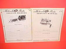 1951 PLYMOUTH CAMBRIDGE CRANBROOK MOTOROLA AM RADIO +TUNER AT-89 SERVICE MANUALS