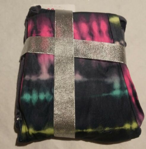 NWT Justice Girls Logo Tie Dye Winter Pajamas PJs 2PC Set