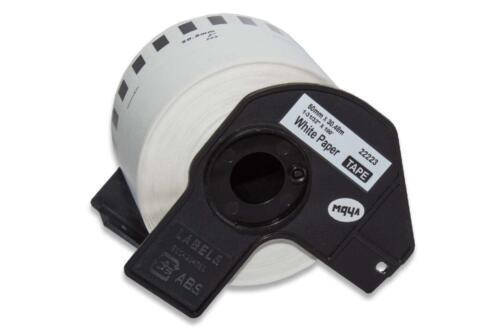 ENDLOS DRUCKER ETIKETTEN 50mm x 30.48m WASSERFEST für BROTHER P-touch DK-22223