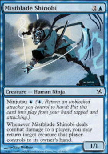 4 Mistblade Shinobi ~ Near Mint Betrayers of Kamigawa 4x x4 Playset MTG Magic Bl