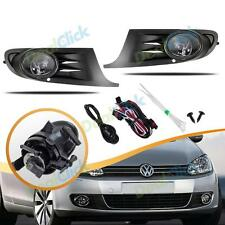 Front Bumper Fog Lights Lamp Grille For 2010-2012 VW Jetta Golf MK6 TDI TSI