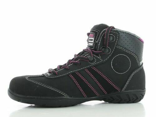 Toe Hi Original Travail De Neuf Isis Steel Cuir Noir Femmes Jogger Chaussures Top Sécurité BUYqxFZw